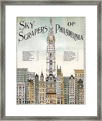 Sky-scrapers Of Philadelphia, 1898 Framed Print