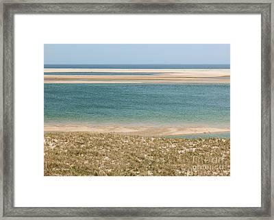 Sky Sea And Sand Framed Print