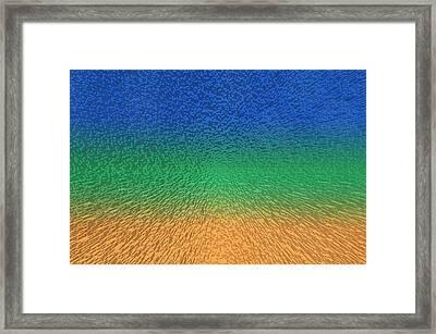Sky Sea Sand 3d Blocks Framed Print
