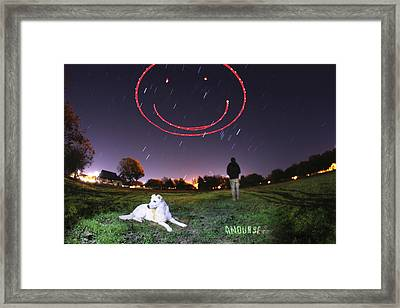 Sky Smile Framed Print