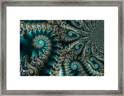 Sky Spirals Framed Print