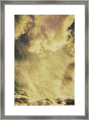 Sky Texture Background Framed Print