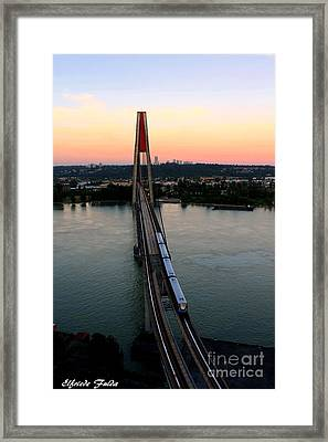 Sky Train Framed Print