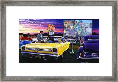 Sky View Drive-in Framed Print by Bruce Kaiser