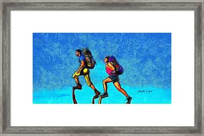 Sky Walkers - Da Framed Print by Leonardo Digenio
