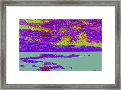 Sky Water D4 Framed Print by Modified Image