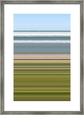 Sky Water Earth Grass Framed Print