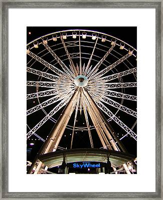 Sky Wheel Framed Print by Heather Weikel