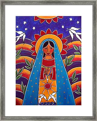 Framed Print featuring the painting Sky Woman by Jan Oliver-Schultz