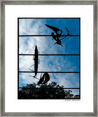 Skyboat Silhouette Framed Print by Jay Taylor