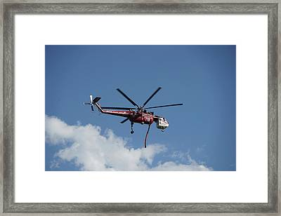 Skycrane Works The Red Canyon Fire Framed Print