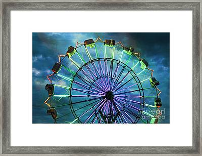 Skydiver At Night Framed Print by Sylvia Cook