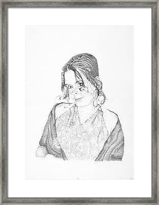 Framed Print featuring the drawing Skye by Mayhem Mediums