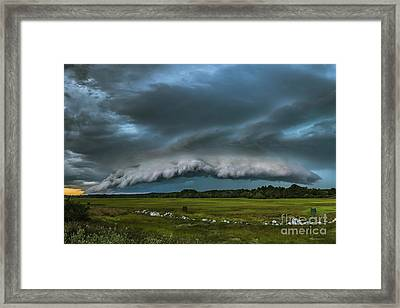 Skyfall Framed Print by Joshua Blash