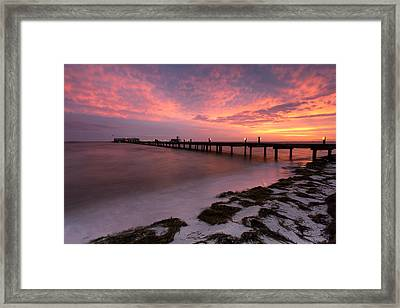 Framed Print featuring the photograph Skyfire - Anna Maria  by Patrick Downey
