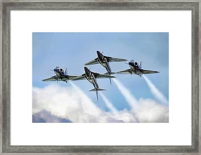 Skyhawk Double Farvel Framed Print by Peter Chilelli