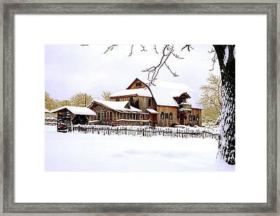 Skyland Farms In Winter Framed Print