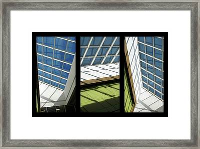 Skylight Triptych II Framed Print by Jessica Jenney