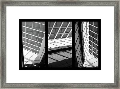 Skylight Triptych  Framed Print