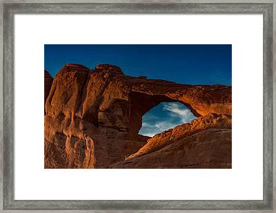 Skyline Arch At Sunset Framed Print