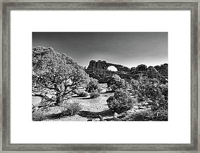 Skyline Arch In Arches National Park Framed Print