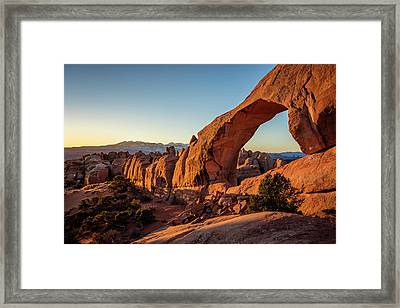 Skyline Arch Framed Print