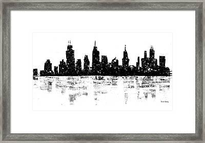 Skyline By Laura Gomez Framed Print by Laura  Gomez