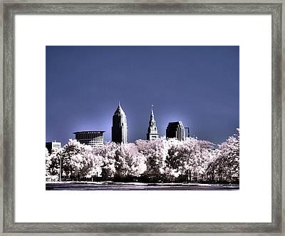 Skyline Cleveland, Ohio Framed Print by Bob LaForce