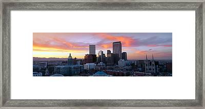 Skyline, Denver, Colorado Framed Print by Panoramic Images