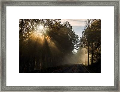 Framed Print featuring the photograph Skyline Drive Fall Color by Kevin Blackburn
