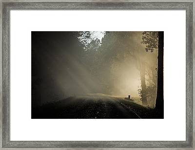 Framed Print featuring the photograph Skyline Drive One by Kevin Blackburn