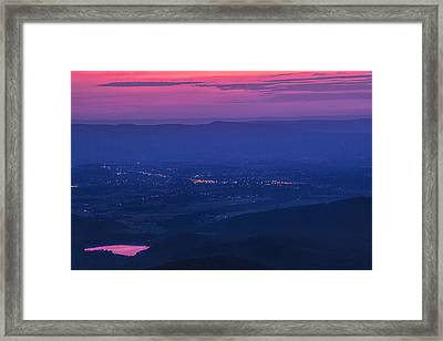 Skyline Drive Sunset Framed Print