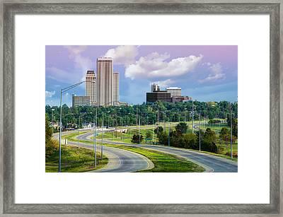 Skyline Drive To Tulsa Oklahoma  Framed Print