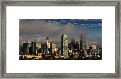 Skyline Fog Framed Print
