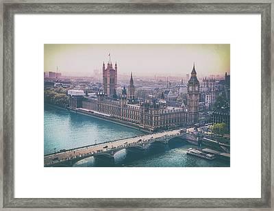Skyline From The London Eye Framed Print