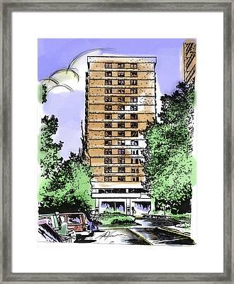 Skyline House Condo Framed Print