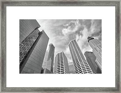 Skyline In Minneapolis, Minnesota Framed Print by Jim Hughes
