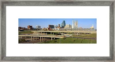 Skyline, Kansas City, Missouri Framed Print by Panoramic Images