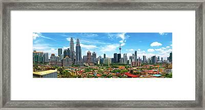 Skyline, Kuala Lumpur, Malaysia Framed Print by Nico Trinkhaus