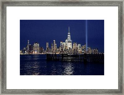 Skyline Lights Framed Print