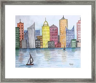Skyline Framed Print by Nermine Hanna