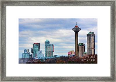 Framed Print featuring the photograph Skyline Niagara by Traci Cottingham