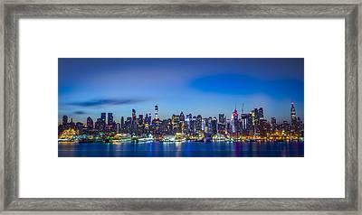Skyline Nyc Before Sunrise Framed Print