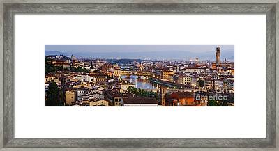 Skyline Of Historic Florence Framed Print by Jeremy Woodhouse