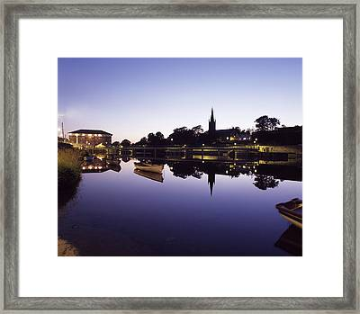 Skyline Over The R Garavogue, Sligo Framed Print