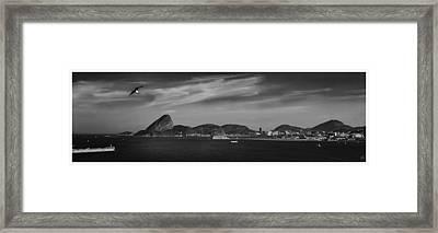 Skyline Pao De Acucar-rio De Janeiro-brasil Framed Print