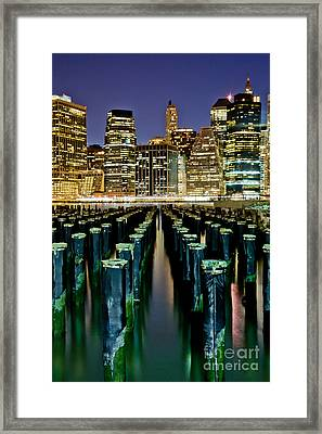 Skyline Perspective Framed Print by Az Jackson
