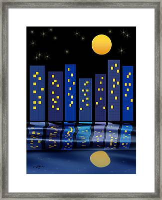 Skyline Reflections Framed Print by Arline Wagner