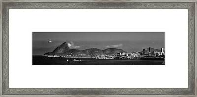 Skyline-rio De Janeiro-aeroporto Framed Print