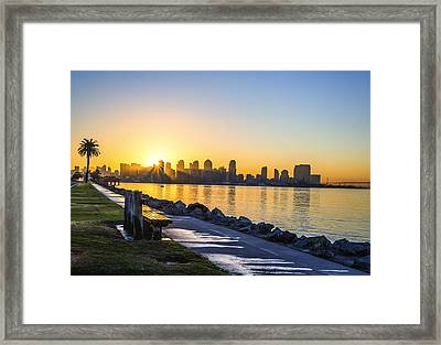 Skyline Sunrise Framed Print